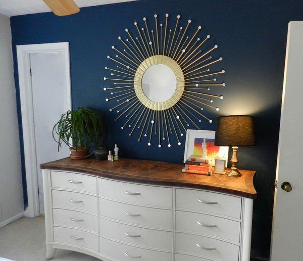 Sunburst Ceiling Medallion DIY Ideas With Mirrors