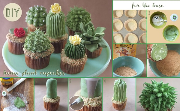Awesome DIY House Plant Cupcakes