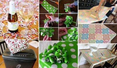How to Reuse Leftover Holiday Wrapping Paper