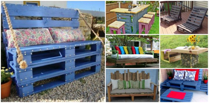 Amazing DIY Outdoor Pallet Furniture Tutorials. DIY Outdoor Pallet Furniture Tutorials