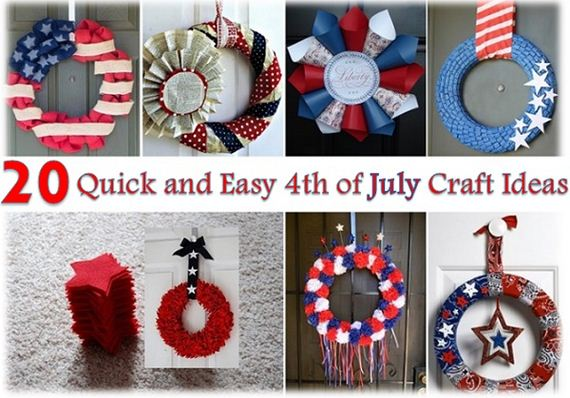 Amazing 4th of july craft ideas for Quick and easy room decor ideas