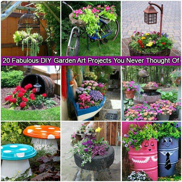 Awesome DIY Garden Art Tutorials