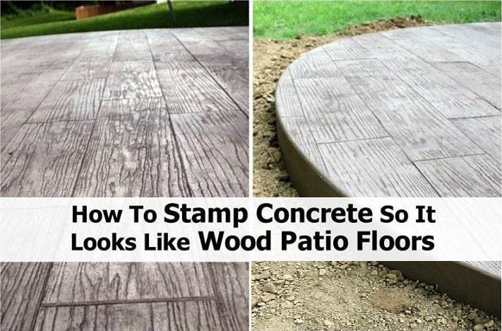 DIY Stamped Concrete Wood
