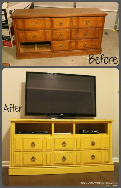 How to Make a Cool TV Stand From Old Dresser