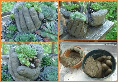 Concrete Garden Hands Tutorial