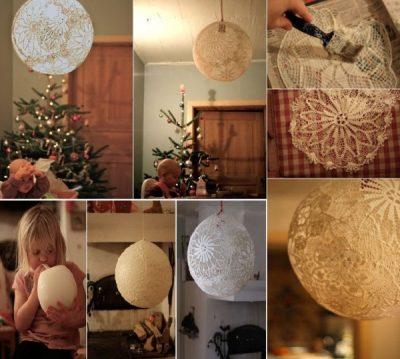 Awesome DIY Lace Lamp