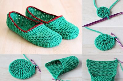 DIY Easy and Simple Crochet Slippers