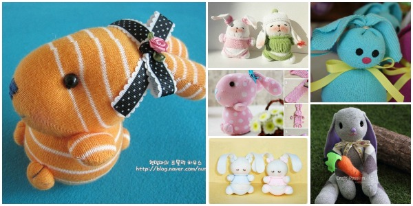 Cute Sock Bunny Projects Round Up