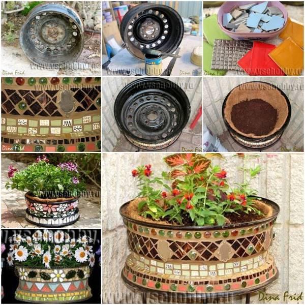 Make a Flower Pot Using A Rim