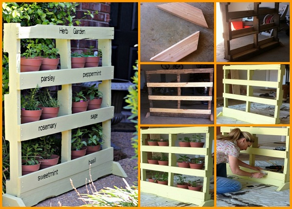 Amazing DIY Pallet Vertical Herb Garden
