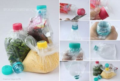 How to Close the Bag with Plastic Bottle Caps