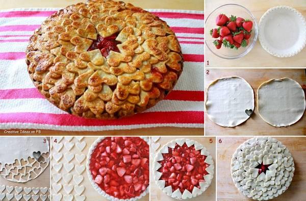 Amazing Strawberry Heart Pie Recipe