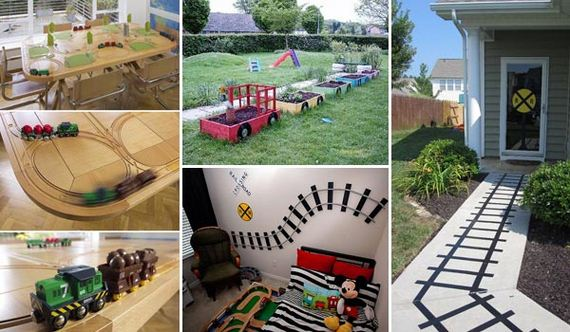 Awesome Decorations Inspired by Train or Train Track