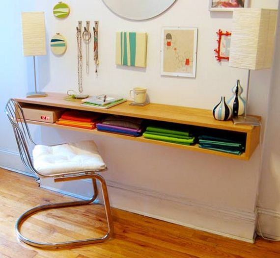 Super Diy Wall Mounted Desks Beutiful Home Inspiration Ommitmahrainfo