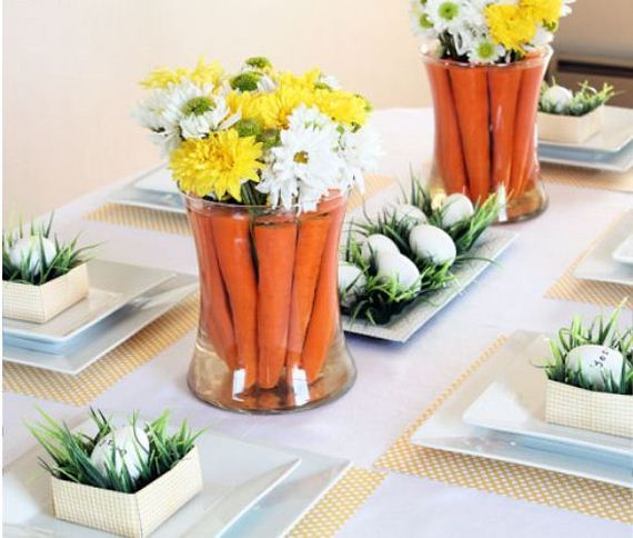 Easter Tablescape And Carrot Centerpiece Find The Tutorial Here