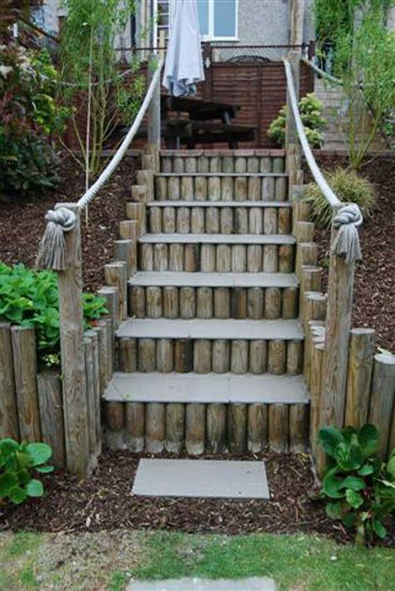 Awesome Diy Ideas To Make Garden Stairs And Steps