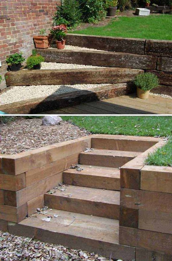 Awesome DIY Ideas to Make Garden Stairs and Steps on Backyard Stairs Ideas id=95801