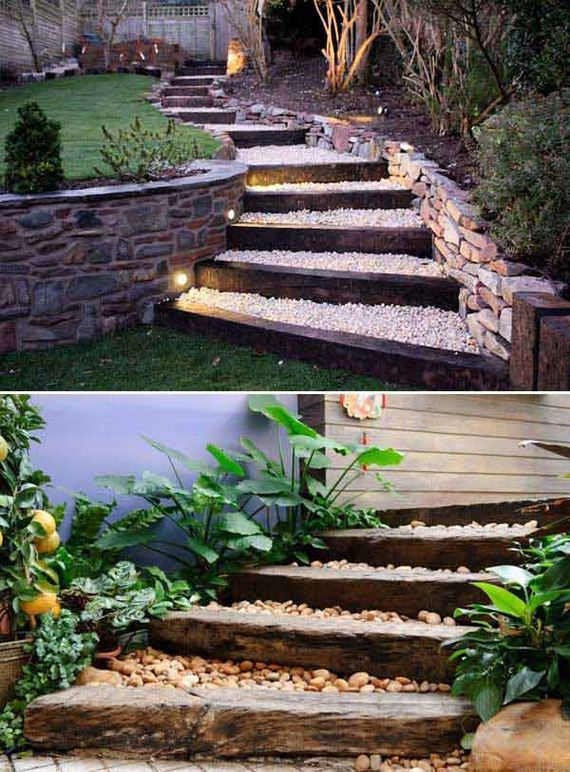 Awesome DIY Ideas to Make Garden Stairs and Steps on Backyard Stairs Ideas id=67276