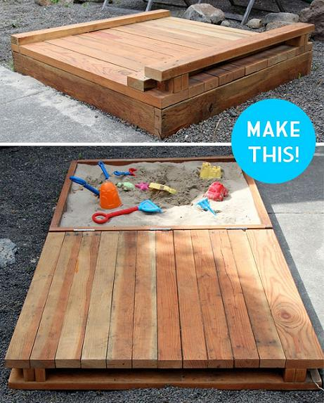 Awesome DIY Covered Sandbox