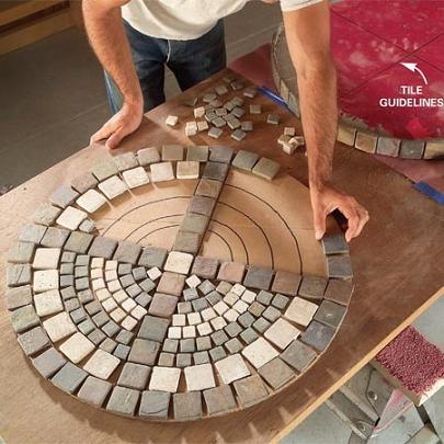 DIY Mosaic Patio Table Top