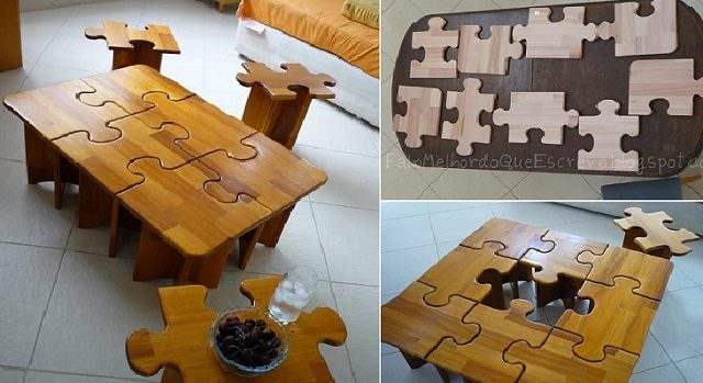 Amazing DIY Puzzle Table