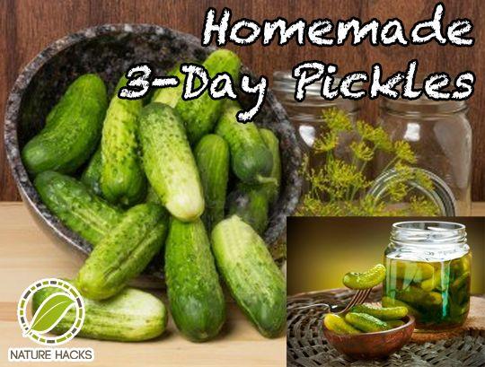 Delicious DIY 3 Day Pickles