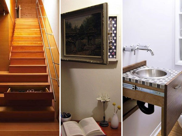 Amazing Spots For Hidden Storage Around Your House