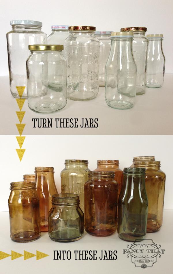DIY: How To Tint Glass Mason Jars