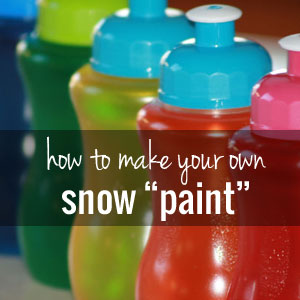 DIY Colorful Paint For Snow