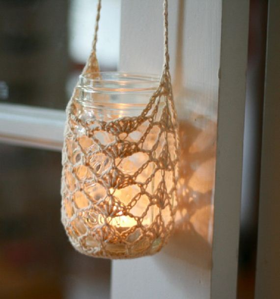 Cool diy hanging candle holders for Hanging candles diy