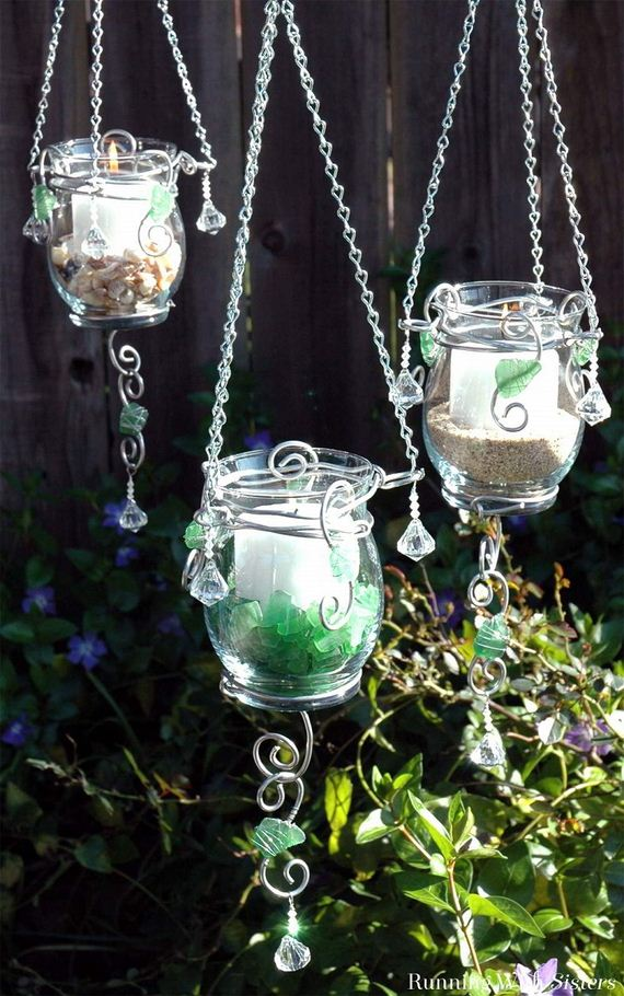Cool DIY Hanging Candle Holders