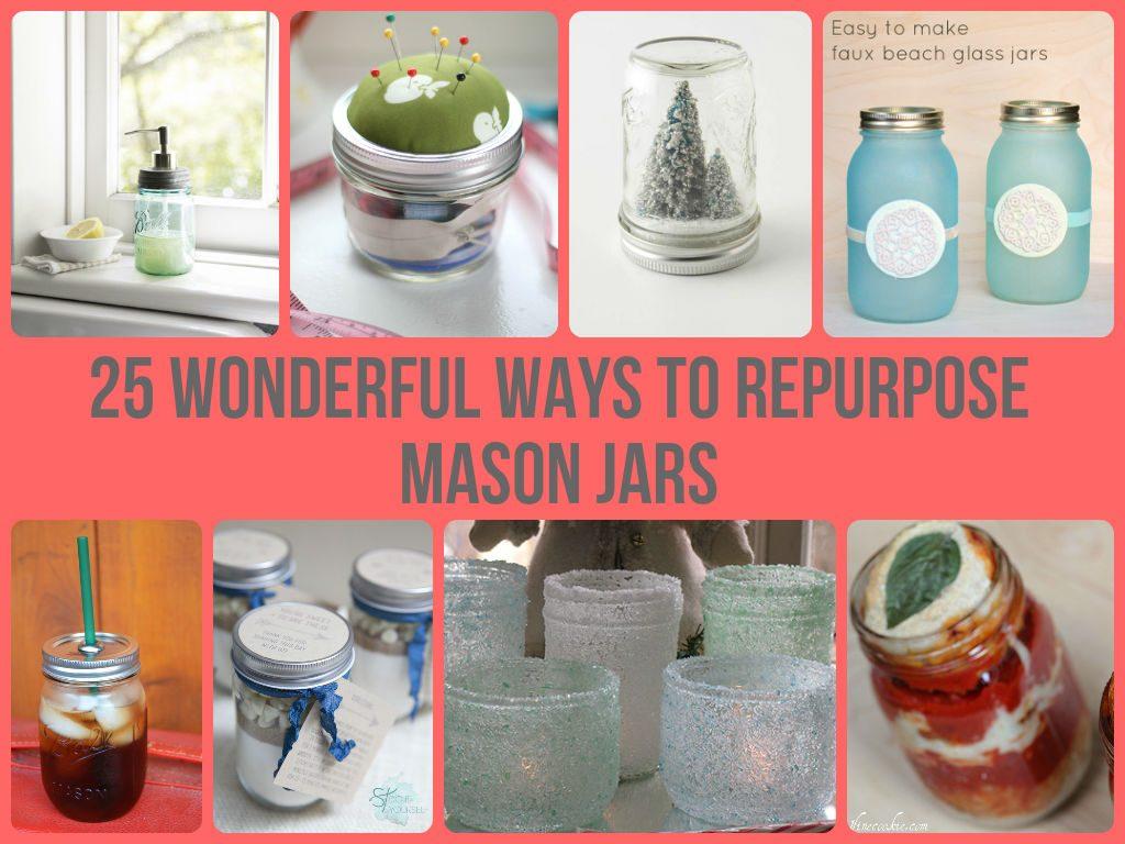 How to Repurpose Mason Jars