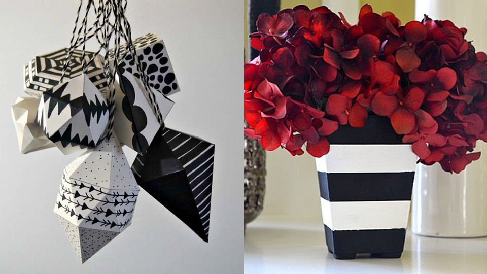 Black and White DIY Room Decor Ideas
