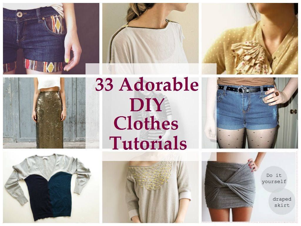 DIY Clothes Tutorials