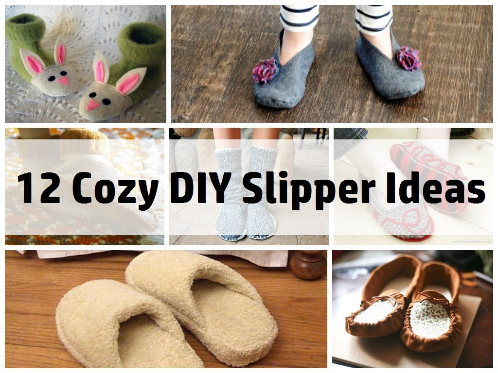 Amazing DIY Slipper Ideas