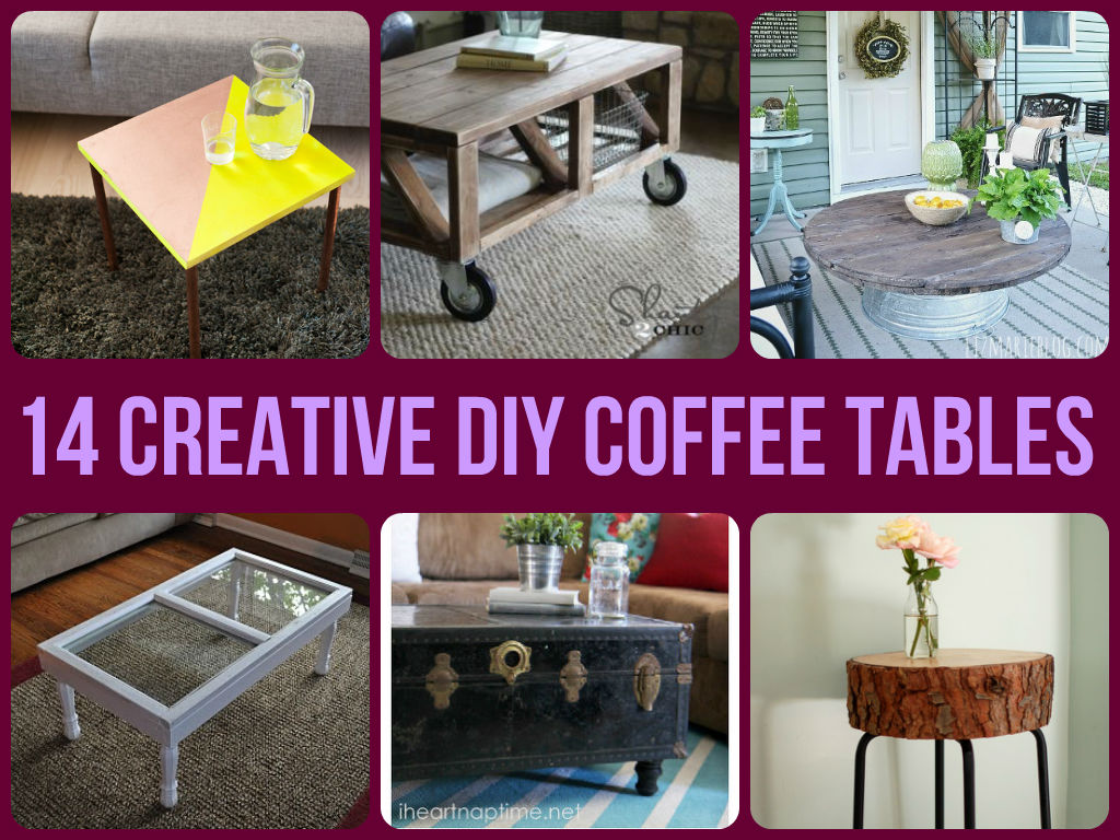 Cool diy coffee tables for Cool coffee tables diy