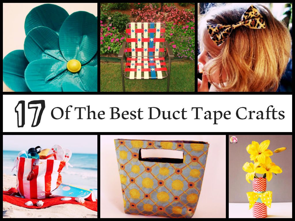 Amazing duct tape crafts for Craft ideas with duct tape