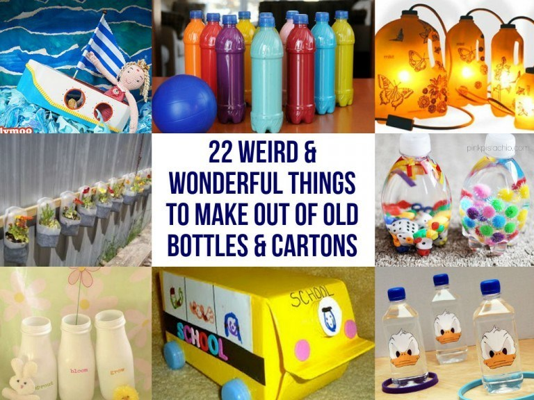 Amazing things to make out of old bottles cartons for Things to make with plastic bottles for kids