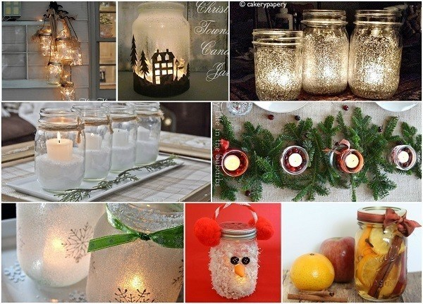 Cute mason jar christmas decorations