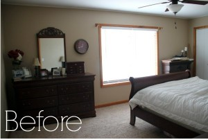 click here to see the transformation budget bedroom makeover