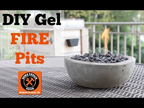 Build Cool DIY Gel Fire Pits