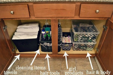 Storage Bins U2013 Even The Most Simple Air Tight Storage Bins Or Fabric Bins  Are A Great Way To Organize Beneath Your Sink. Store Products You Donu0027t  Need Often ...