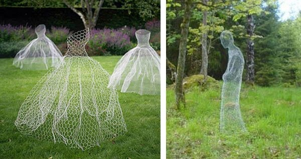 Spooky diy halloween decor ideas chicken wire ghosts these are the best halloween yard decor shape them from chicken wire and pain them with glow in the dark paint to create creepy solutioingenieria Images