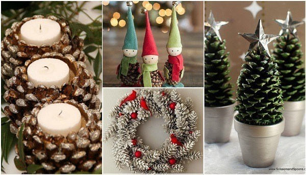Amazing Festive Decorations Using Pine Cones