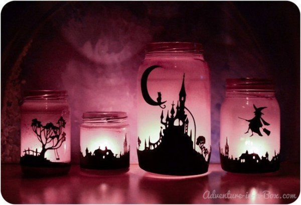 Creepy Halloween Mason Jar Crafts