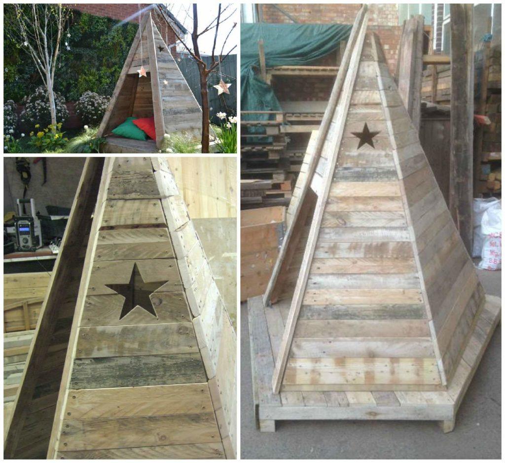 DIY Pallet Wood Kids Teepee