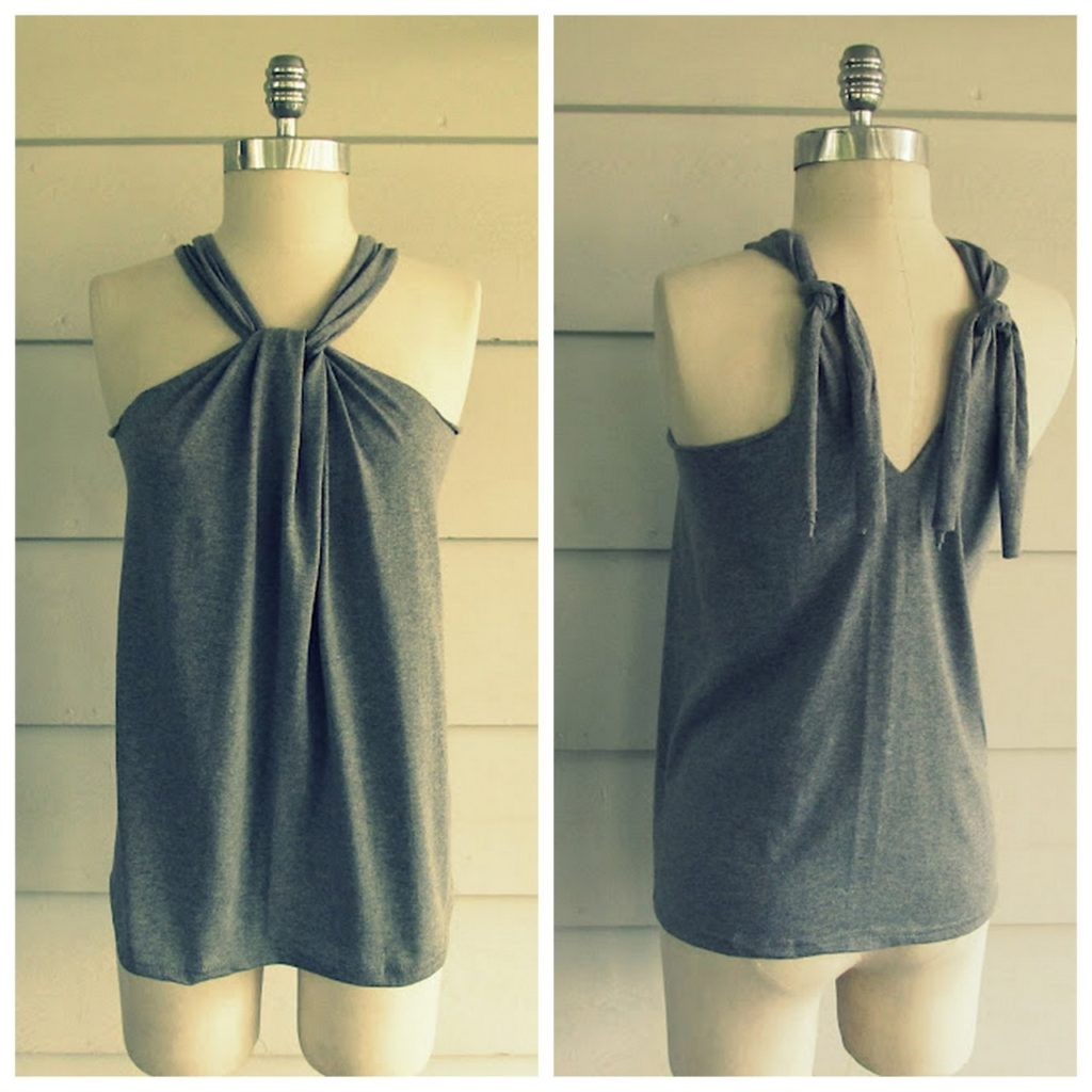Stylish diy halter tops have you always really liked the way that halter tops look at the front gathered at the neck but you feel like the back leaves something to be desired baditri Gallery