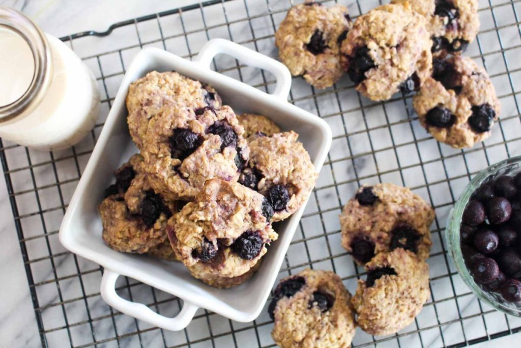 Delicious Lemon Blueberry Breakfast Cookies