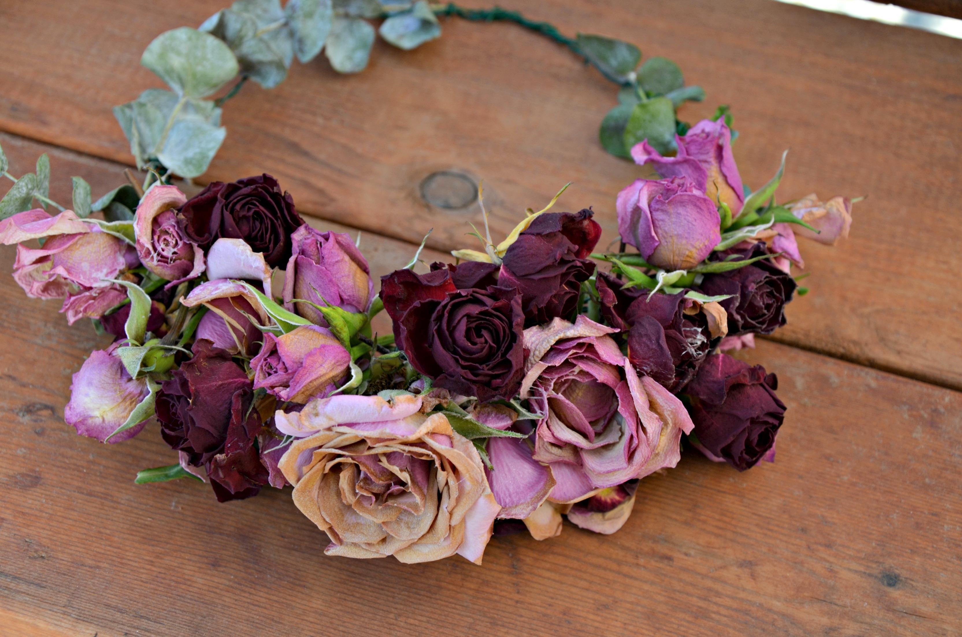 Amazing fall wedding flowers dried flower crown izmirmasajfo