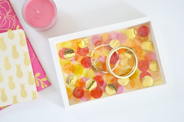 Amazing DIY Confetti Jewelry Trays